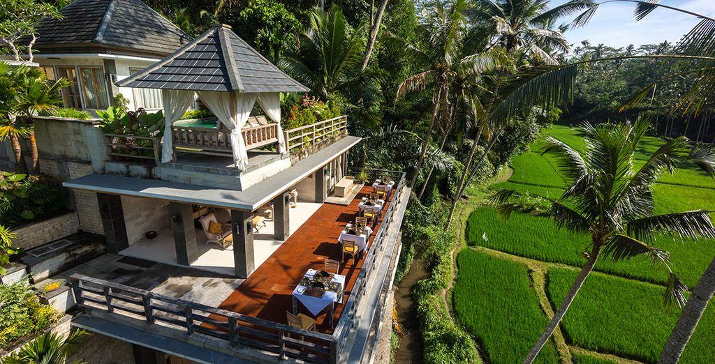 Emerveillez vous devant la végétation dense du Jiwaklusa Luxury Villa