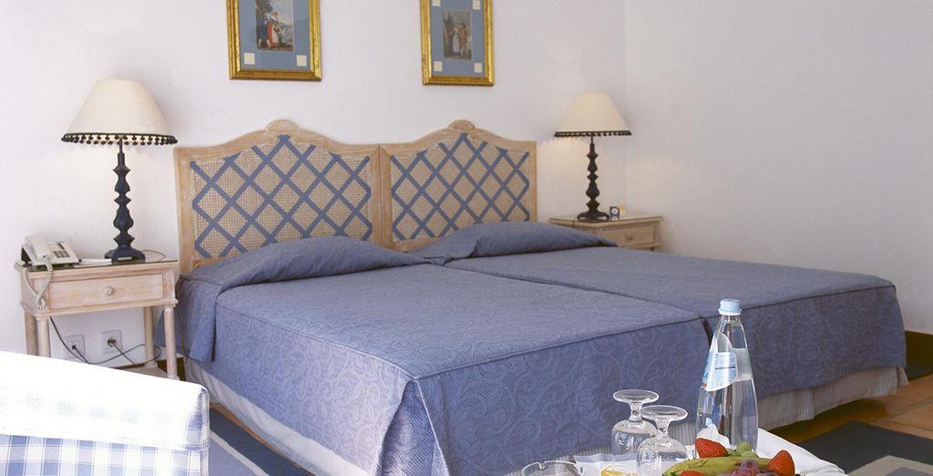 La chambre Standard dans laquelle vous logerez vous fera vivre de vrais moments de détente