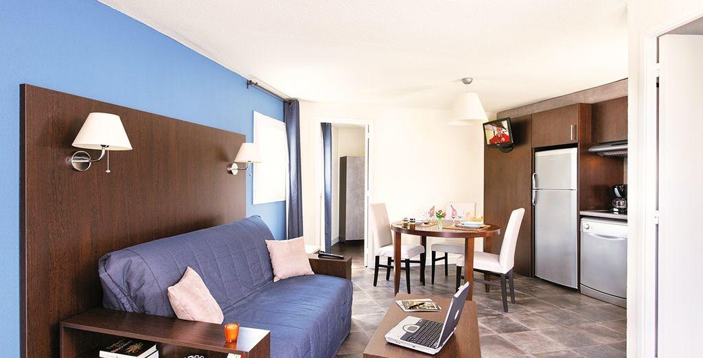 Photographie d'un appartement de vacances pour un séjour tout confort au cœur de la Rochelle