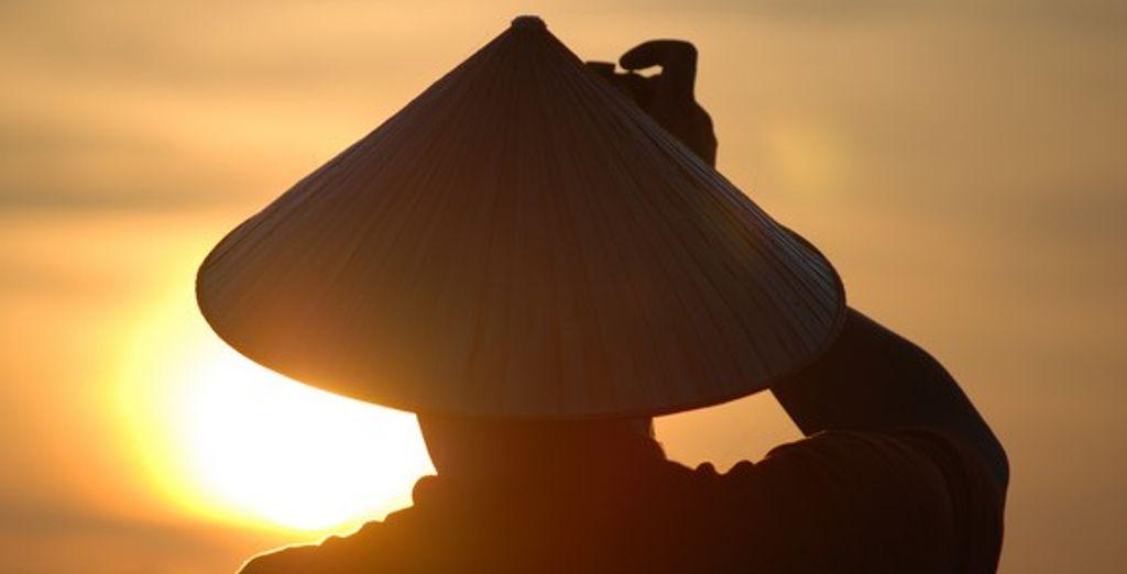 Un coucher de soleil au Vietnam