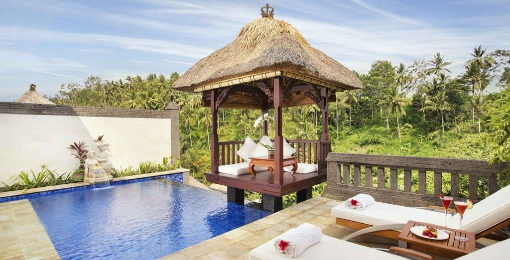 Tel un cocon romantique, la Villa Terrasse Deluxe vous accueille dans son écrin naturel