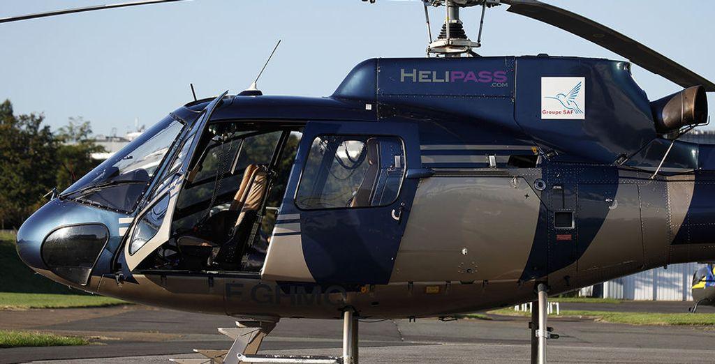 lors d'un survol en hélicoptère...