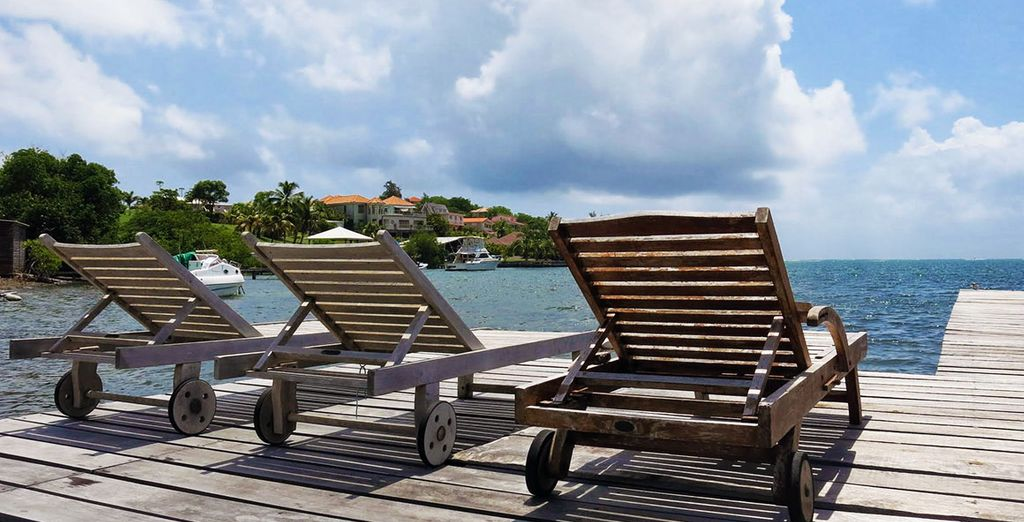 Ponton privatif sur la mer pour une ambiance tropicale