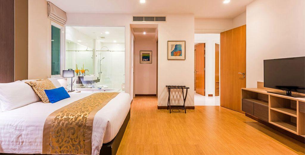 Le surclassement en Deluxe 1 Bedroom Pool Suite est offert dès 10 nuits ou jusqu'au 31/10 en 7 nuits