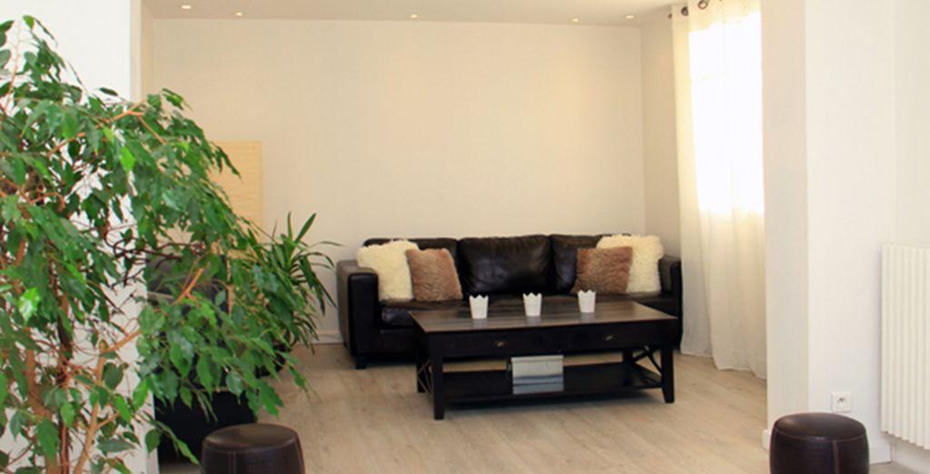 Le salon tout confort - Appartement 2 chambres jusqu'à 4 personnes Cannes