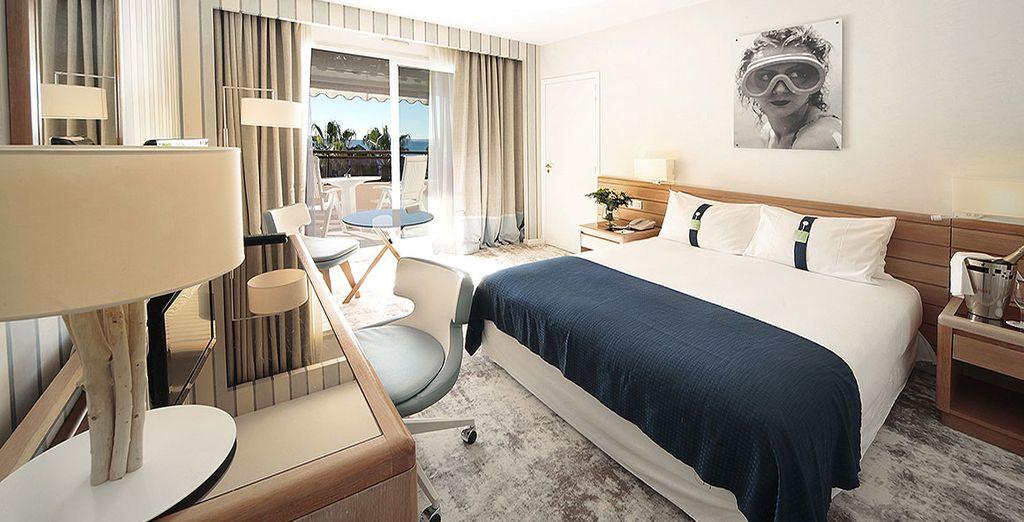 Installez-vous en chambre Double Executive Jardins ou Premium Mer...