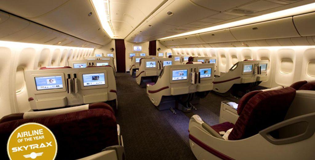 La classe Affaires Qatar Airways