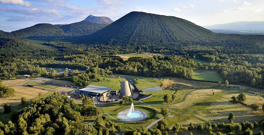 Photographie du parc d'attractions de Vulcania