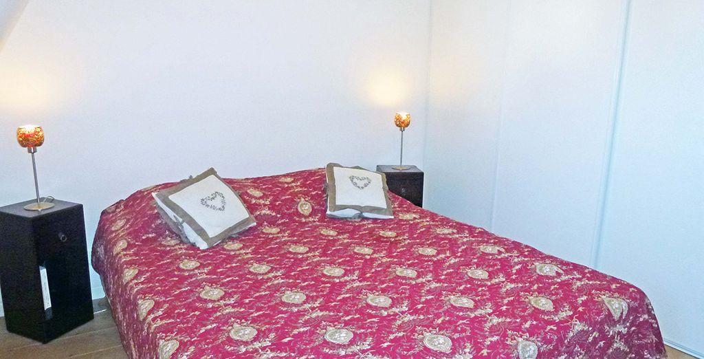 La chambre avec lit double...