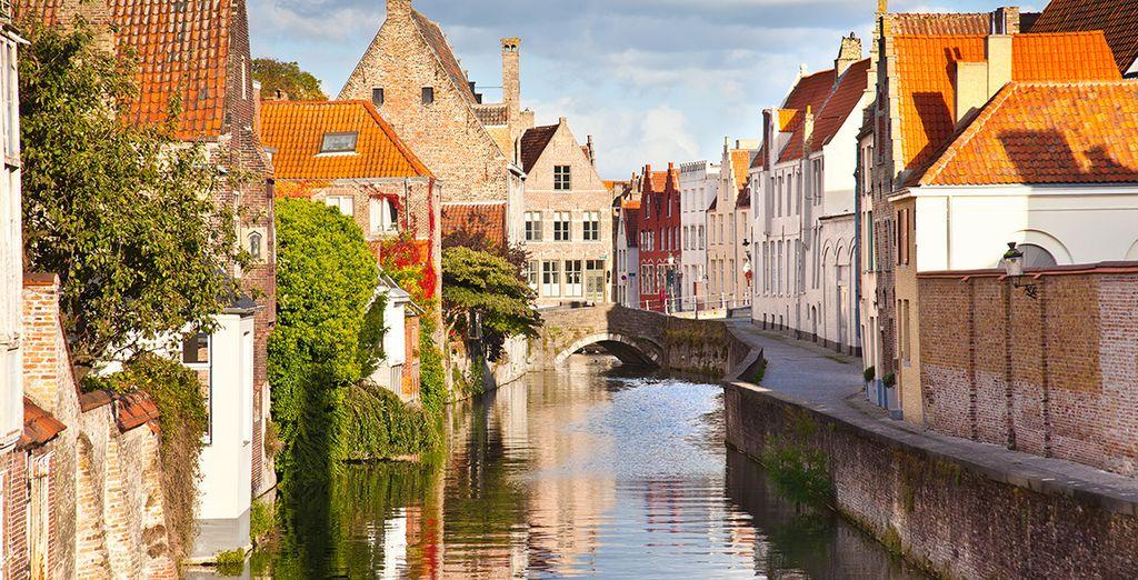 Photographie de la ville de Bruges en Belgique