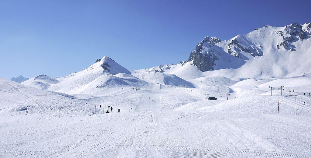 Profitez de son immense domaine skiable !