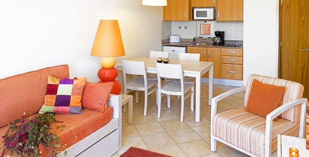 Vous serez confortablement installé dans votre spacieux appartement