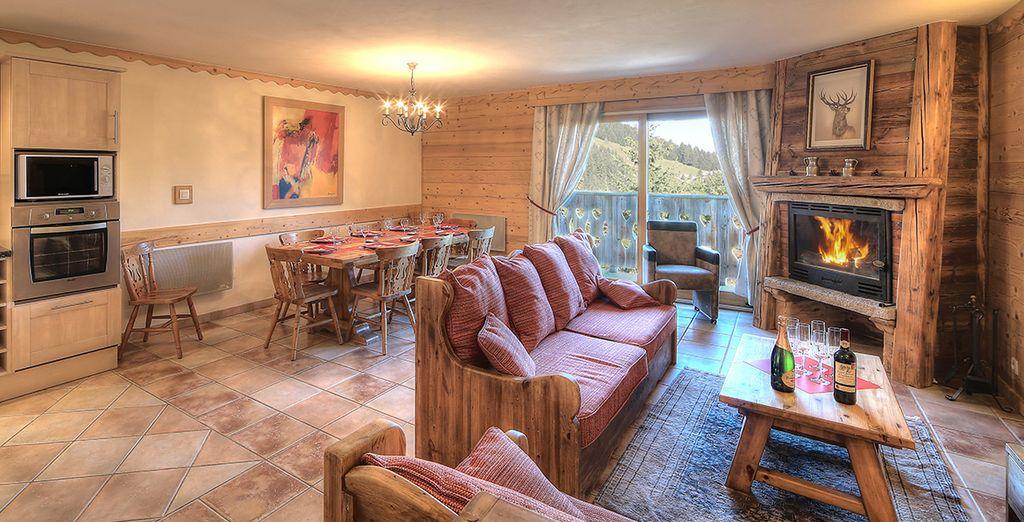 Dans l'appartement Antares Lodge, vous pourrez loger jusqu'à 8 personnes