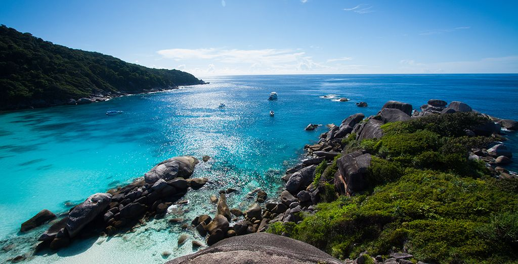 Et les îles comme Surin et Similan