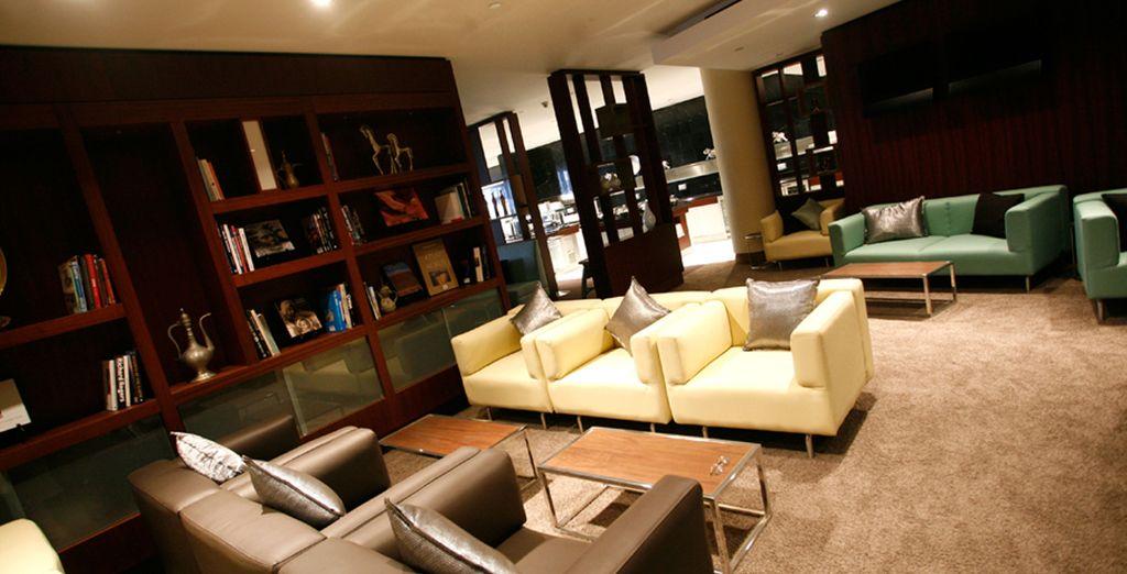 Et le rêve commencera dès l'aéroport, dans le salon lounge...