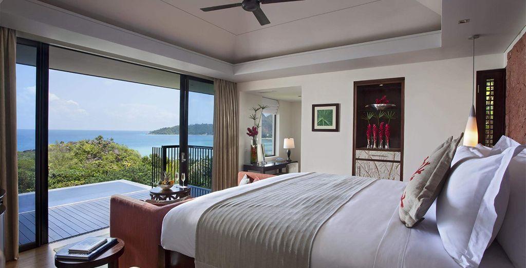 Hôtel romantique 5* aux Seychelles avec piscine privée et vue sur l'océan