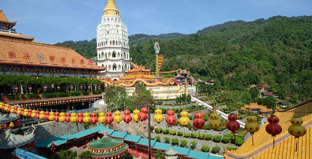 La quiétude des temples bouddhistes...