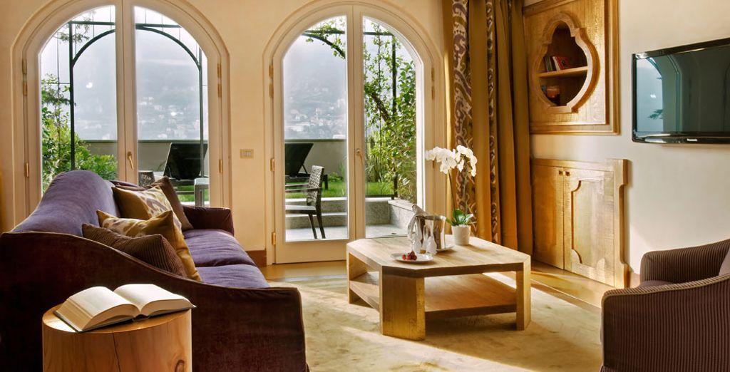 Donnez une autre dimension à votre séjour avec la majestueuse Suite Sous les Toits