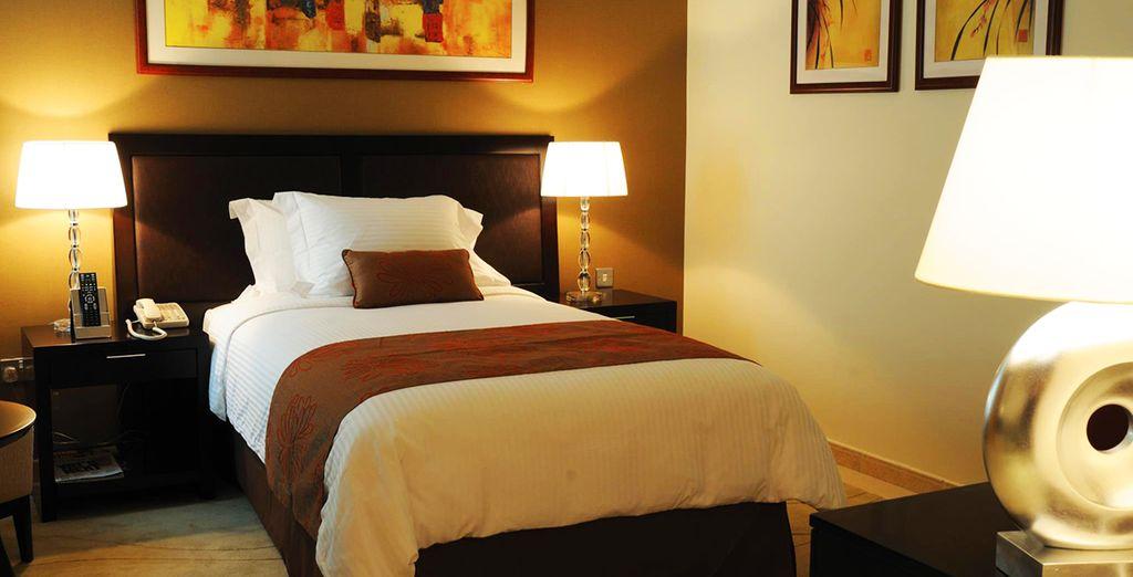 Vous y séjournerez en confortable chambre Standard
