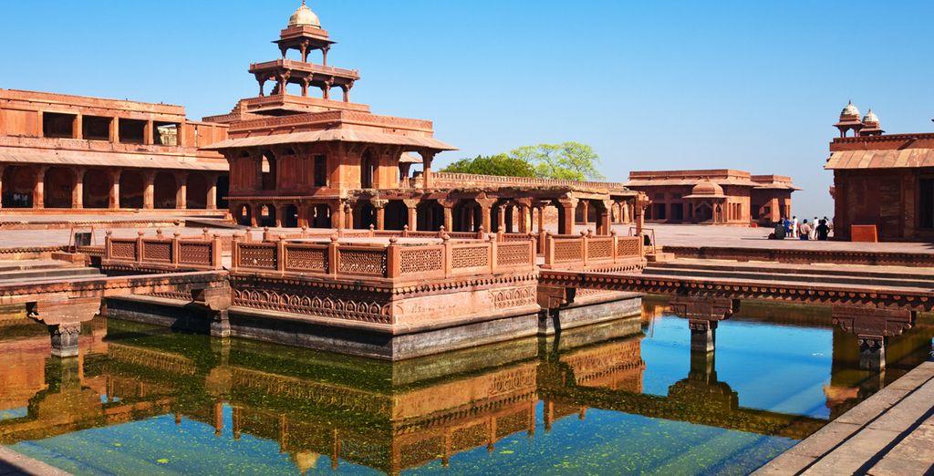 La visite du Fatehpur Sikri, ville fantôme de son état, sera un moment grandiose...