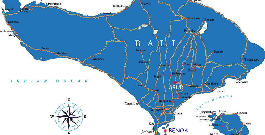 Depuis Ubud jusqu'à Benoa, imprégnez-vous des beautés de Bali