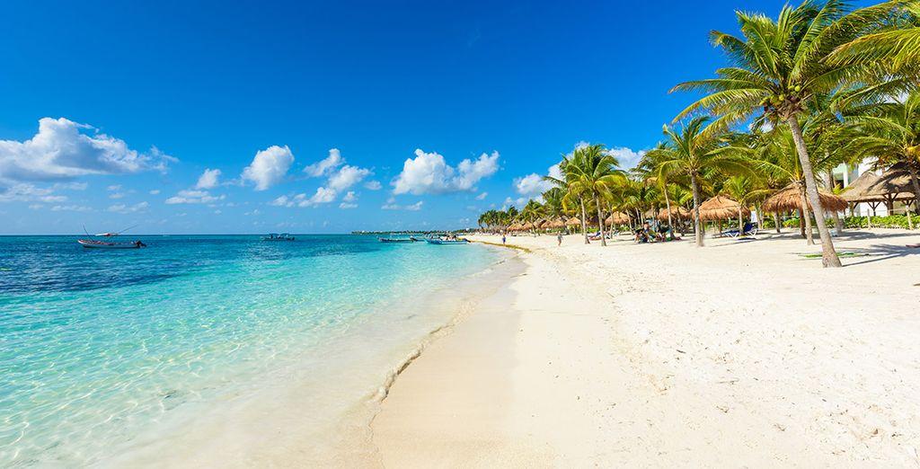 Photographie des belles plages de Cancun, au Mexique