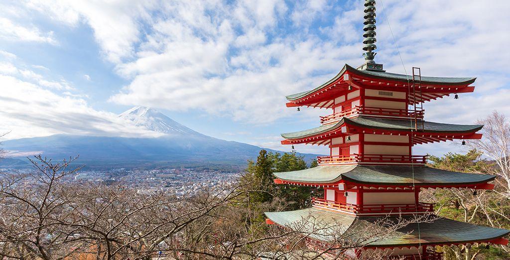 Rapprochez-vous du mont Fuji grâce à l'excursion proposée en option et avec supplément
