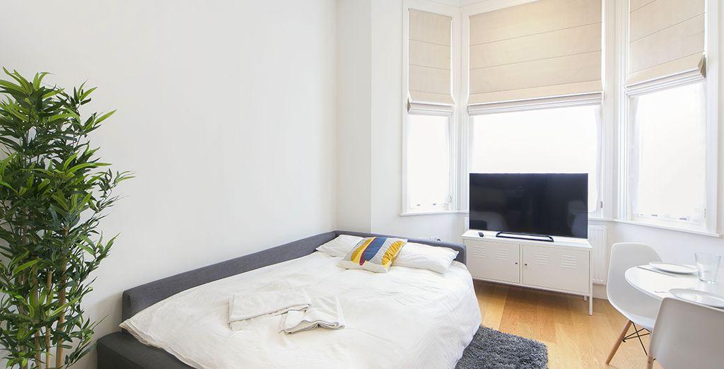 Appartement 2 : Le canapé-lit dans le salon