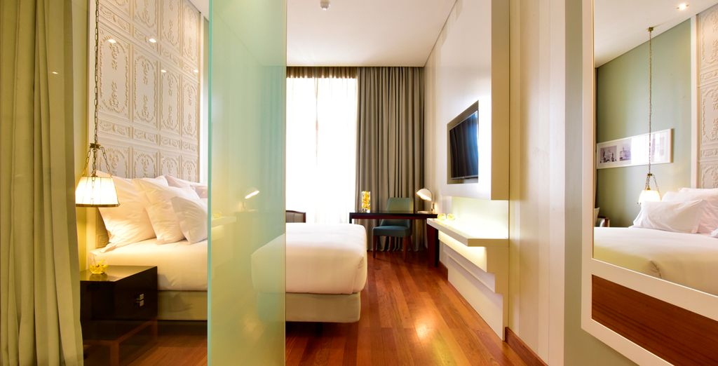 Hôtel de luxe tout confort cinq étoiles, chambre double située au centre de Lisbonne à proximité de toutes activités