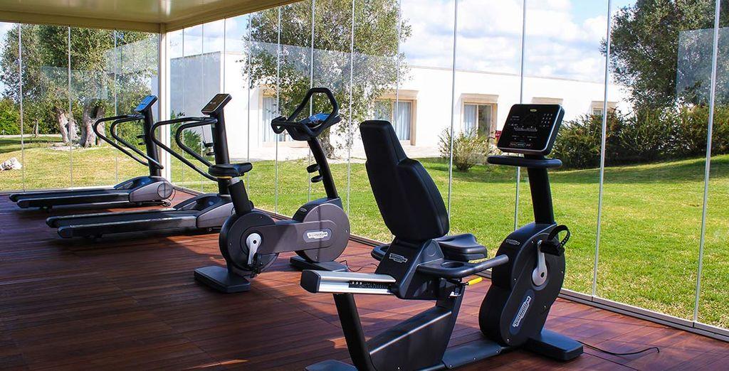 Gli ospiti più sportivi possono recarsi nella sala fitness