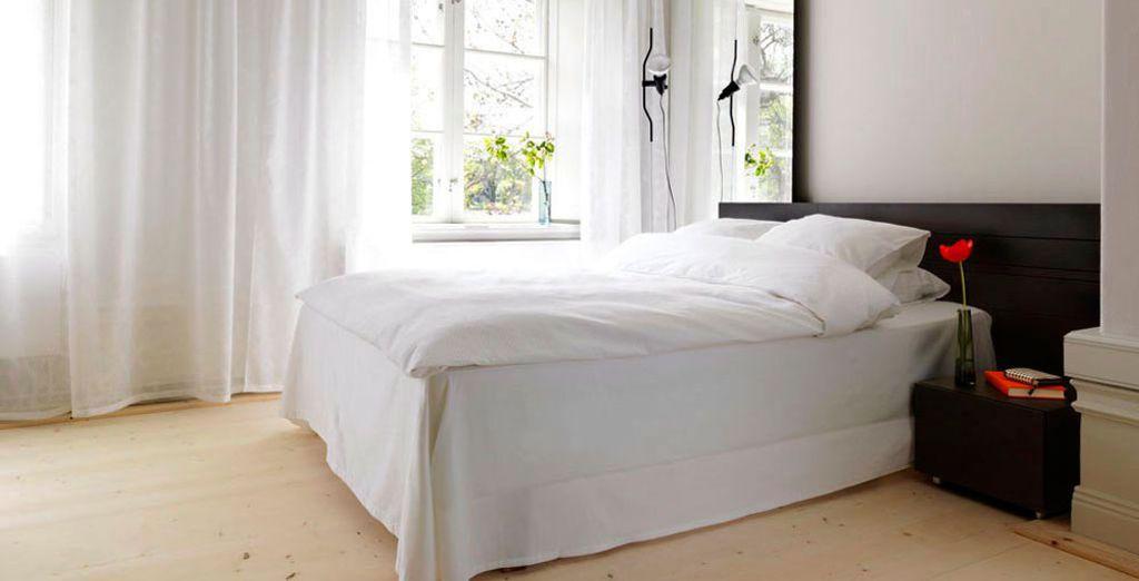 che mette in mostra l'amore svedese per l'arredamento minimalista