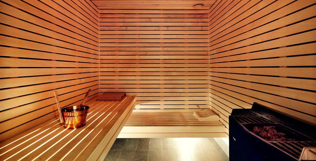 Questo luogo è perfetto per il relax grazie alla sua splendida sauna