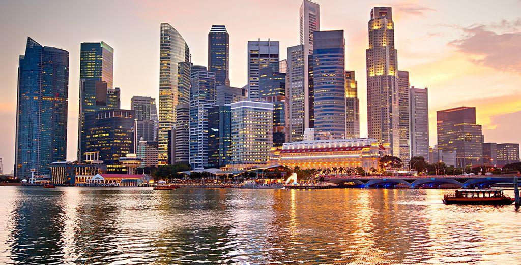 Fotografia della città di Singapore