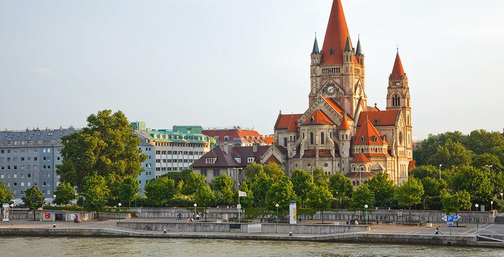 Fotografia della città di Vienna, la capitale dell'Austria
