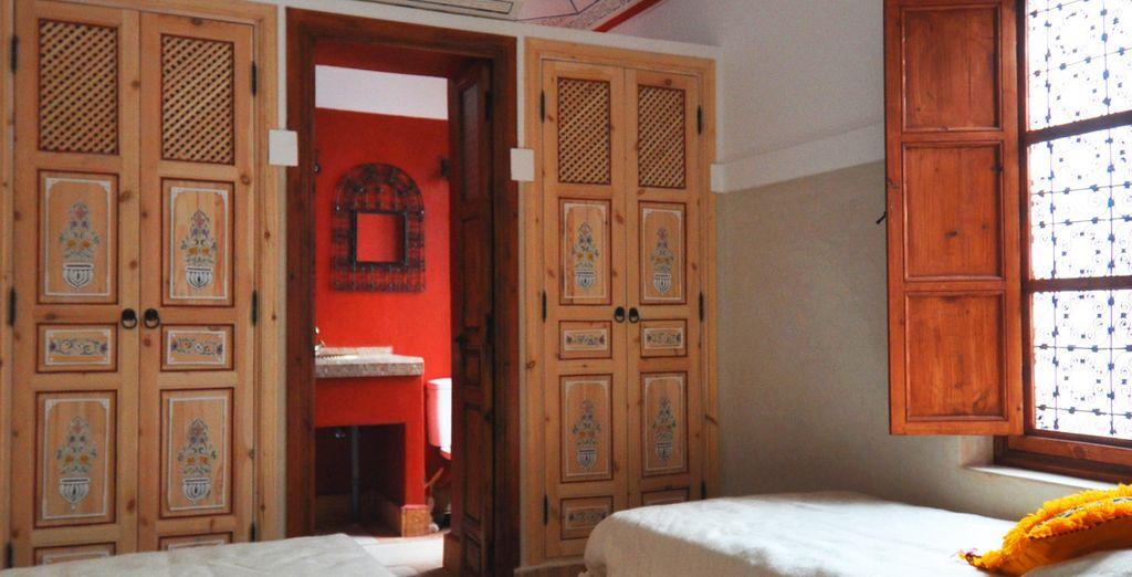 o nella confortevole Camera Euphorbe