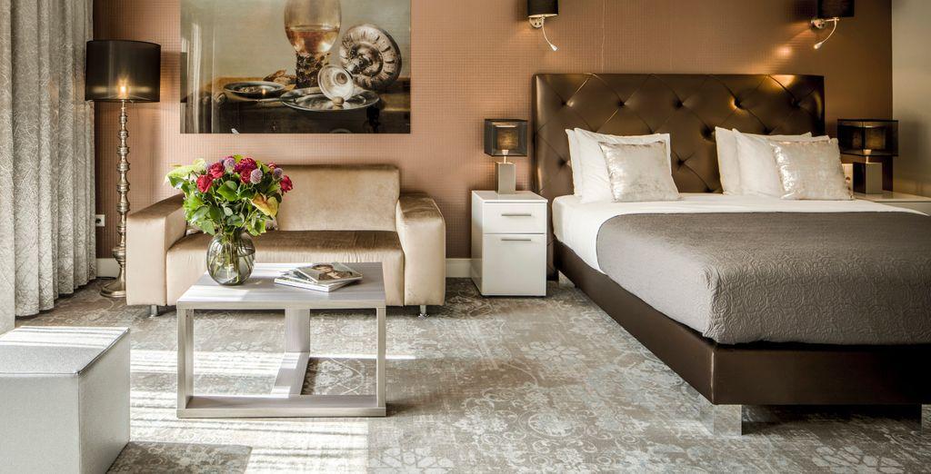 Hotel a 5 stelle con confortevole camera doppia nel cuore di Asmterdam, la capitale dei Paesi Bassi