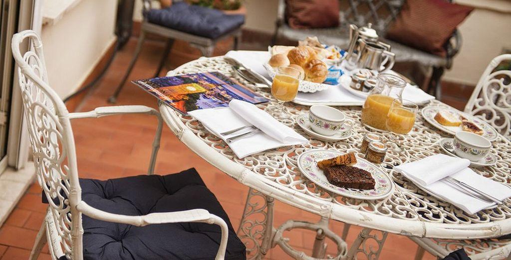 dove ogni mattina potrete fare colazione nella privacy della vostra terrazza.