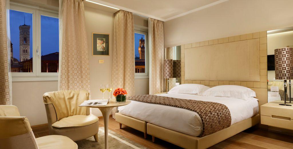 Hotel di lusso con un comodo letto matrimoniale e vicino a tutte le attività