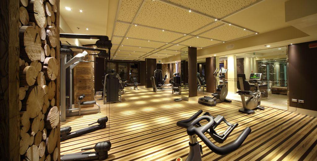 o tenetevi in forma nella sala fitness.