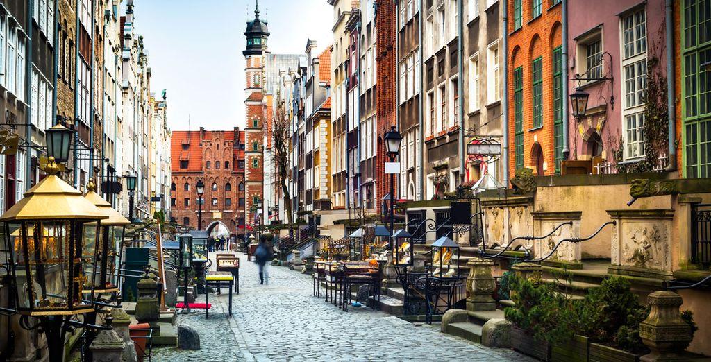 Fotografia del centro storico di Cracovia in Polonia
