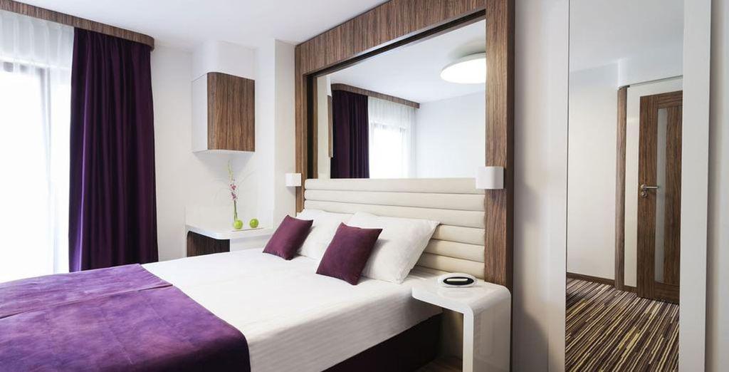 Hotel di alta gamma con una confortevole camera doppia, nel centro di Cracovia e vicino a tutte le attività, Polonia