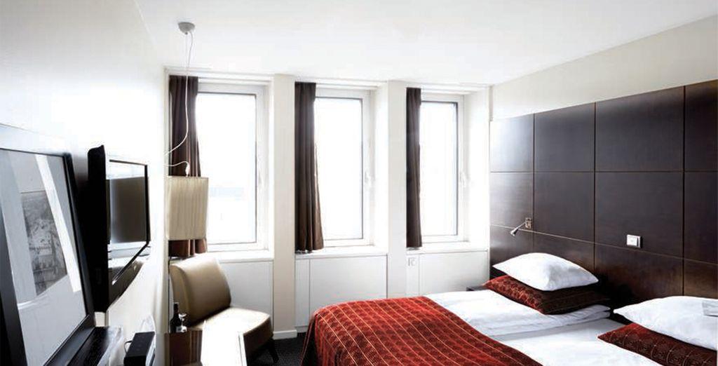 Hotel The Square 4 stelle e la sua camera doppia con tutti i comfort