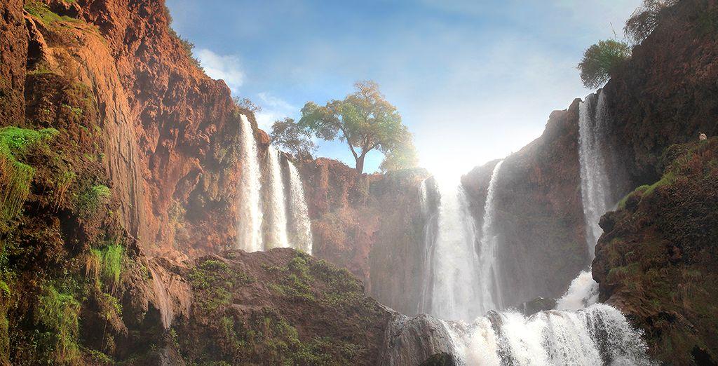 Paesaggi del Marocco, dell'Atlante e delle Tre Valli, con le sue bellissime cascate