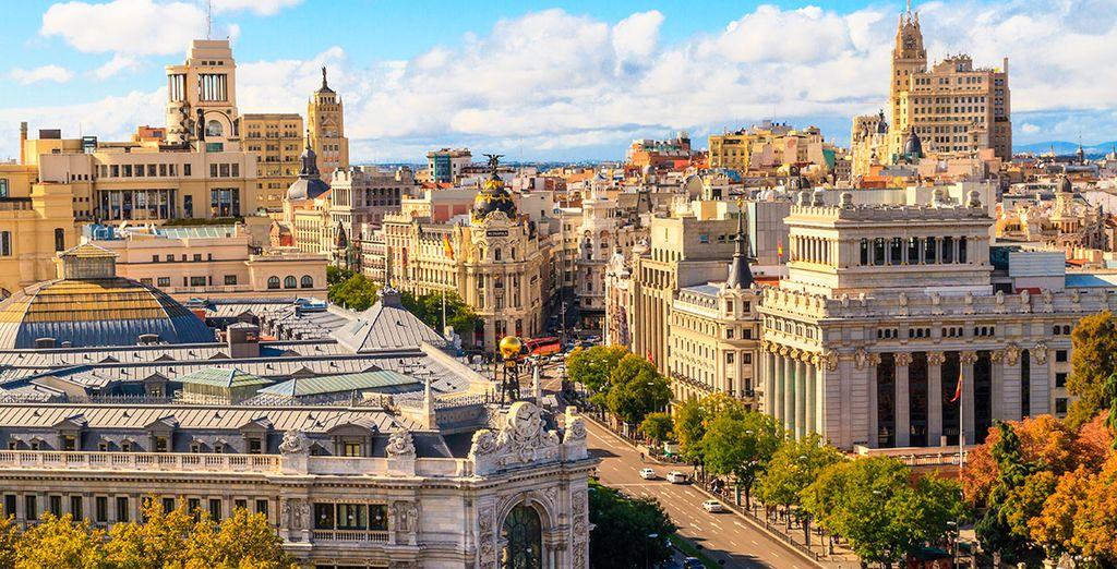 Panorama sur la ville de Madrid