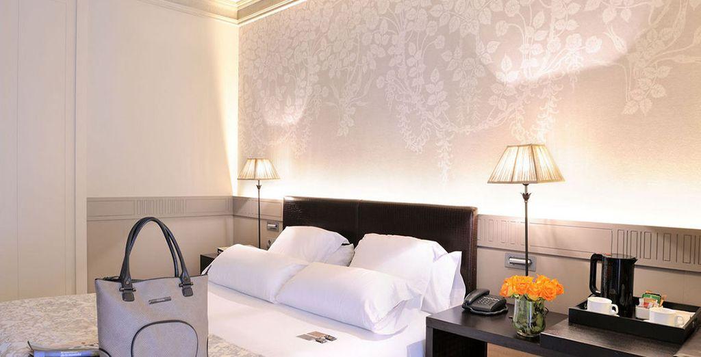 Soggiornerete nelle splendide camere standard Exterior, dotate di tutti i comfort necessari per regalarvi il massimo del relax