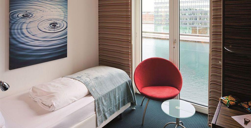 Accomodatevi nella vostra camera moderna (in foto: camera singola standard)