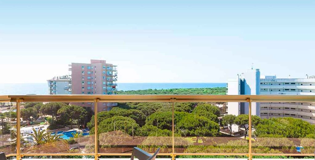 La terrazza offre una splendida vista sulla città
