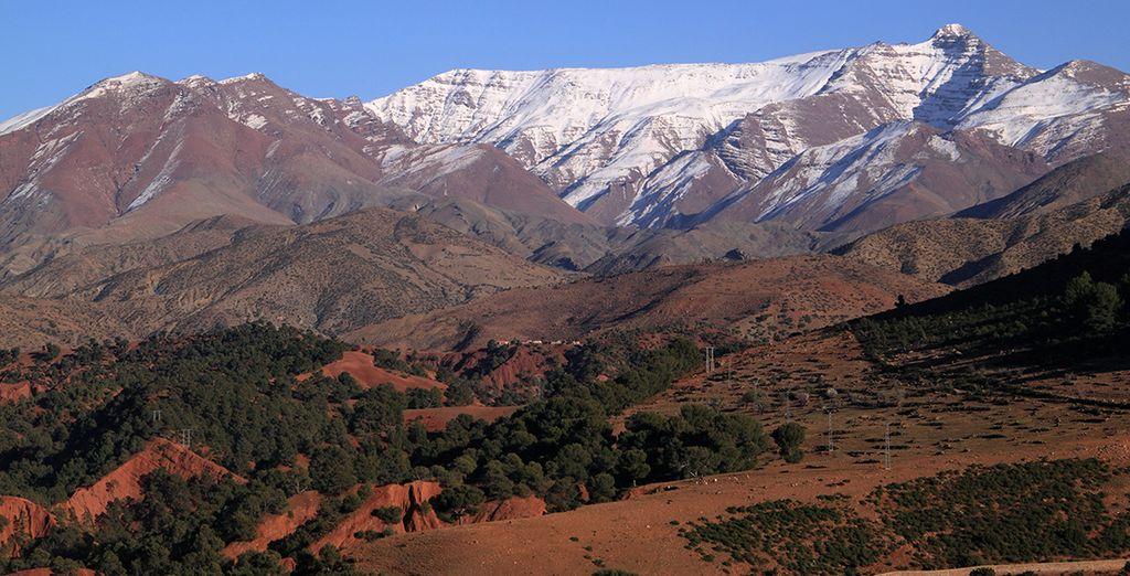 Fotografia dei bellissimi paesaggi del Marocco