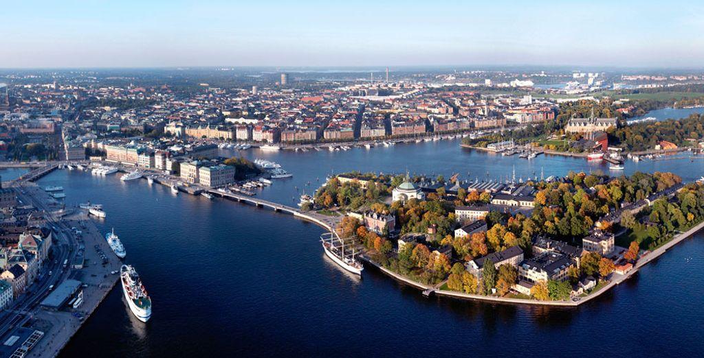 L'isola si trova nel cuore di Stoccolma,
