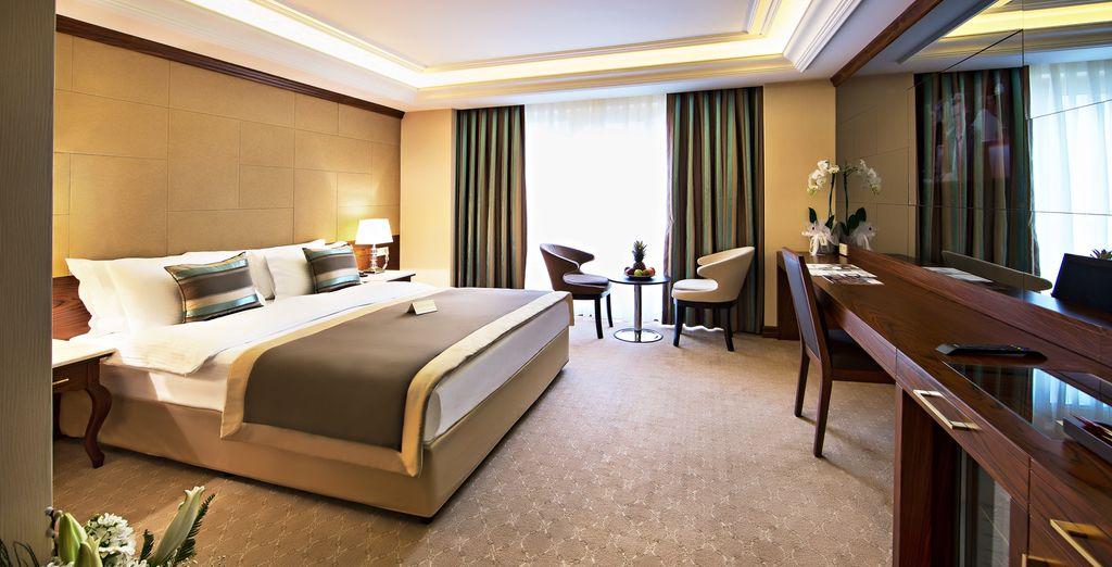 Hotel di lusso a 4 stelle e camere spaziose con tutti i comfort nel cuore di Istanbul, vicino a tutte le attività